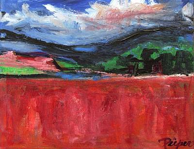 Painting - Red Field Landscape by Betty Pieper