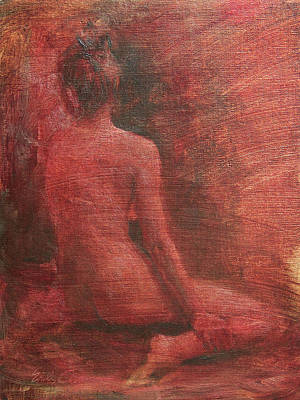 Painting - Red Figure Study by Emily Olson
