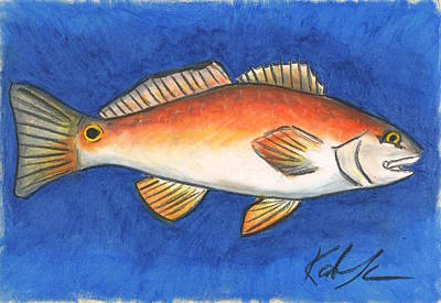 Pastel - Red Fish by Katie Sasser