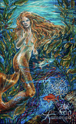 Painting - Red Fish by Linda Olsen