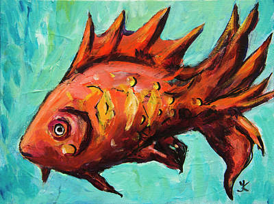 Painting - Red Fish by Yulia Kazansky