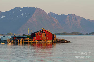 Photograph - Red Fishing Hut By The Sea by Heiko Koehrer-Wagner