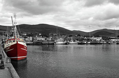 Photograph - Red Fishing Trawler by Aidan Moran