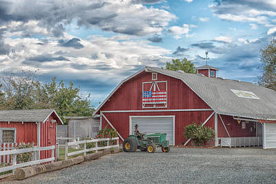 Brentwood Barn Photograph - Red Flag Barn by Robin Mayoff