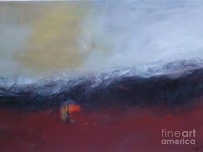 Painting - Red Flag by Janet Visser