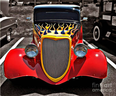 Photograph - Red Flames Ride by Raymond Earley