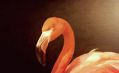 Painting - Red Flamingo by Modern Art