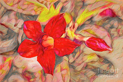 Painting - Red Floral by Deborah Benoit