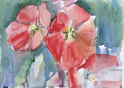 Langlois Painting - Red Floral by Kelsey Langlois