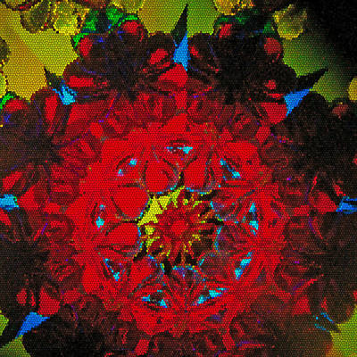 Photograph - Red Floral Wreath Kaleidoscope by Tikvah's Hope