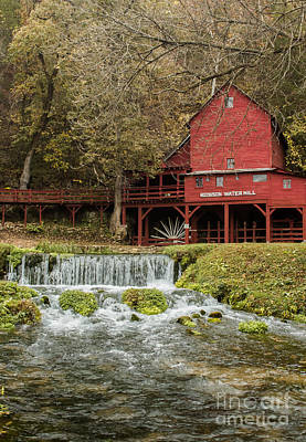 Photograph - Red Flour Mill by Robert Frederick