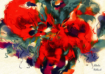 Painting - Red Flower Power by Natalie Holland