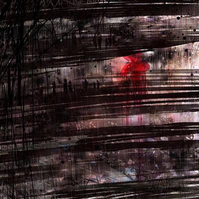 Red Flower Art Print by Rachel Christine Nowicki
