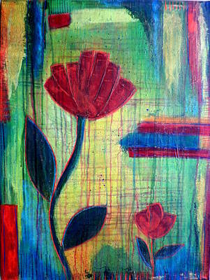 Painting - Red Flowers by Alexandra Schumann