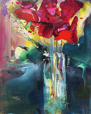 Painting - Red Flowers by Drew Davis