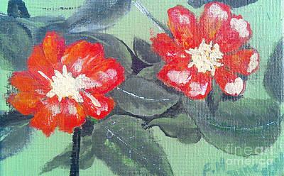 Painting - Red Flowers by Francine Heykoop