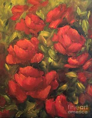 Painting - Red Flowers by Inese Poga