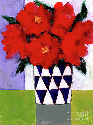 Painting - Red Flowers by Terry Ellis