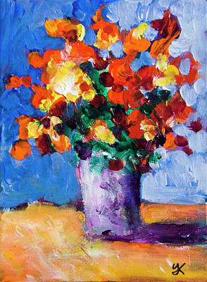 Painting - Red Flowers by Yulia Kazansky