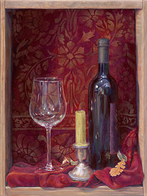 Box Wine Painting - Red For A Good Read by Sheri Hoeger