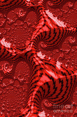 Digital Art - Red For Danger by Steve Purnell
