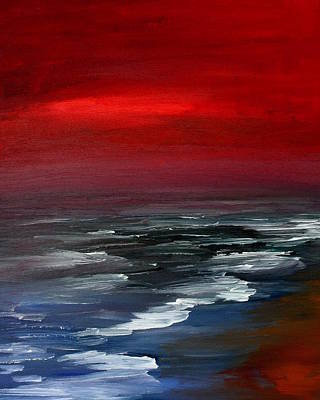 Julie Lueders Artwork Painting - Red For Love by Julie Lueders
