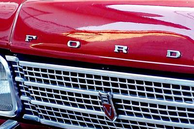 Photograph - Red Ford 02 by Dora Hathazi Mendes