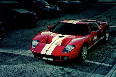 Photograph - Red Ford Gt by Joel Witmeyer