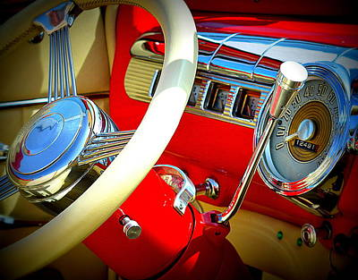 Photograph - Red Ford Interior by Kimberly-Ann Talbert