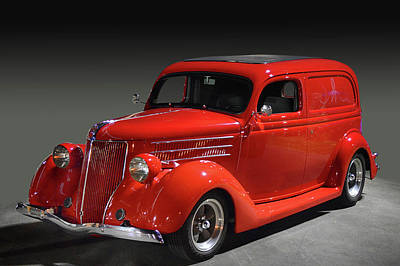 Photograph - Red Ford Panel by Bill Dutting