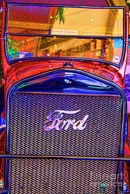 Photograph - Red Ford by Rick Bragan