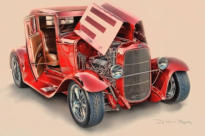Photograph - Red Ford Roadster by Dyle   Warren