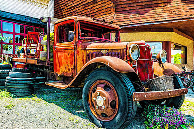Photograph - Red Ford Truck by Nick Zelinsky
