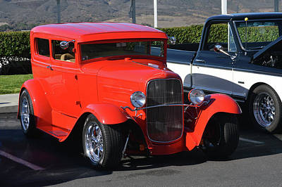 Photograph - Red Ford Tudor by Bill Dutting