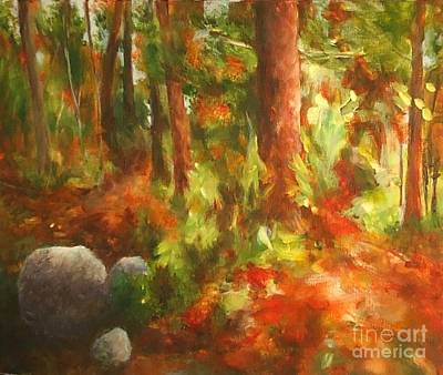 Painting - Red Forest by Claire Gagnon