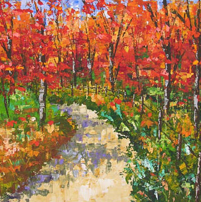 South Of France Painting - Red Forest by Frederic Payet