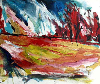 Painting - Red Forest by John Jr Gholson