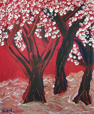 Painting - Red Forest by Joshua Redman