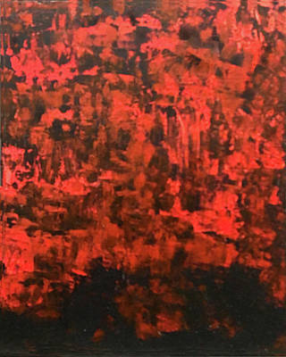 Painting - Red Forest by Judy Tolley