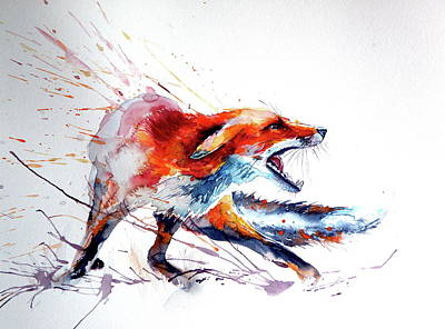 Painting - Red Fox /big by Kovacs Anna Brigitta