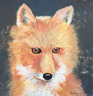 Fox Kit Painting - Red Fox by Christine Lathrop