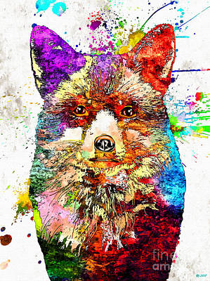 Mixed Media - Red Fox by Daniel Janda