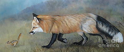 Red Fox Encounter Art Print by Charlotte Yealey