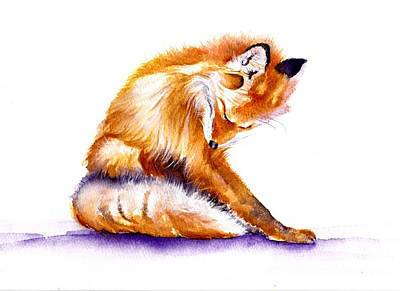 Red Fox - Flee Magnet Original by Debra Hall