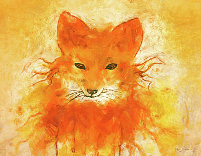 Red Fox Painting - Red Fox Impressionistic by Ken Figurski