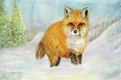 Painting - Red Fox In Winter by Loretta Luglio