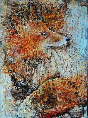 Red Fox Art Print by Jean Cormier