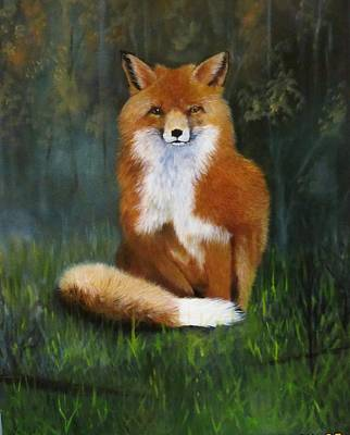 Painting - Red Fox by Jean Yves Crispo