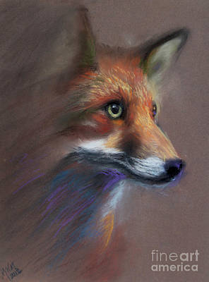 Drawing - Red Fox by Michelle Wolff