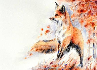 Painting - Red Fox Painting by Angelina Ligomina